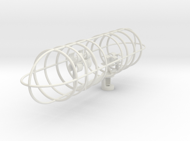 Double MS plus Z axis VR array (19mm Long) Beta in White Natural Versatile Plastic