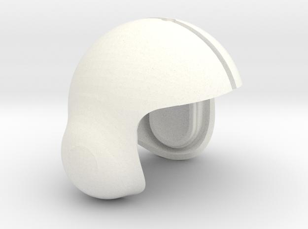1.6 CASQUE PILOTE COBRA (PART1) in White Processed Versatile Plastic