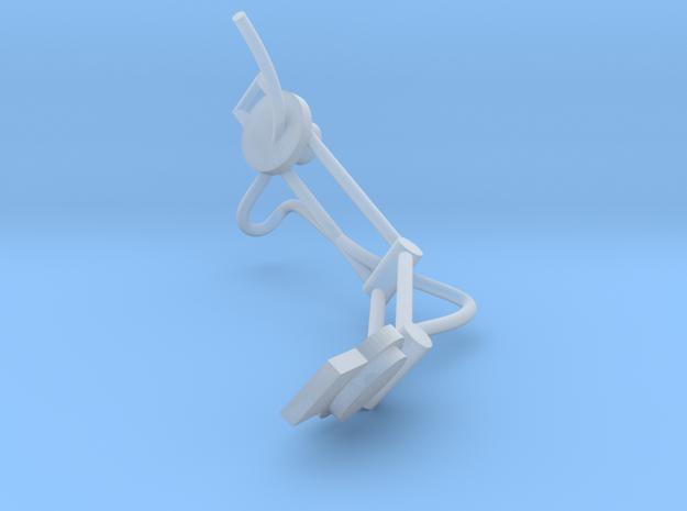 1.6 CASQUE PILOTE COBRA (PART2) in Smooth Fine Detail Plastic