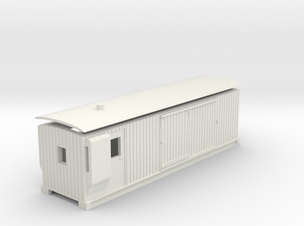 L&B 009 Brake Van in White Natural Versatile Plastic