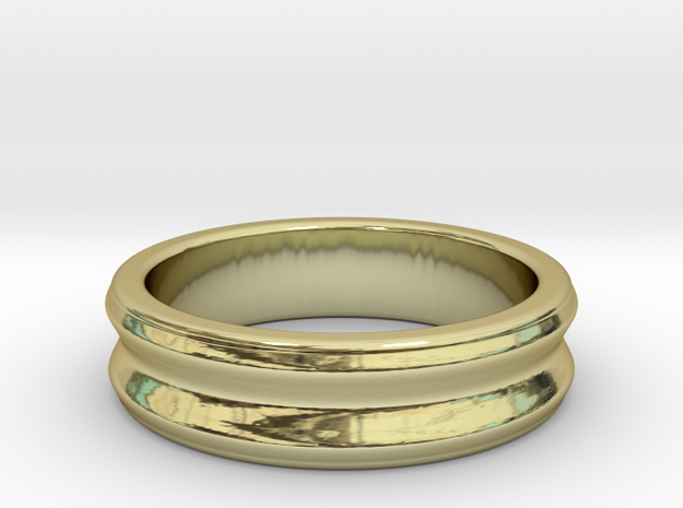 C ring - Size 5 to 13. in 18k Gold Plated: 10 / 61.5