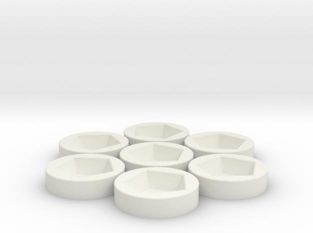7x D12 Socket in White Strong & Flexible