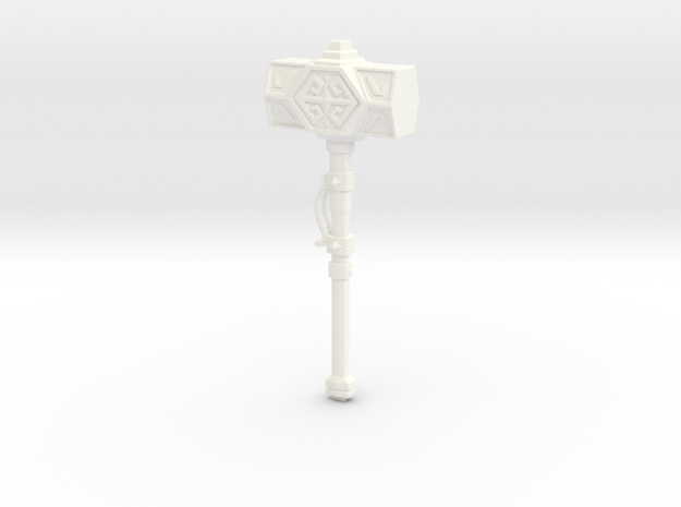 Iron Sledge Hammer in White Processed Versatile Plastic