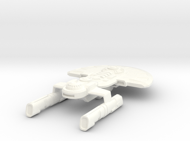 USS Germaine in White Processed Versatile Plastic