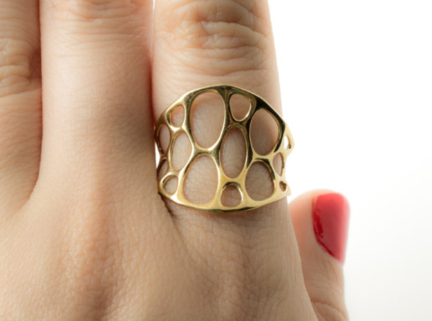 1-layer center ring in Polished Brass: 7 / 54