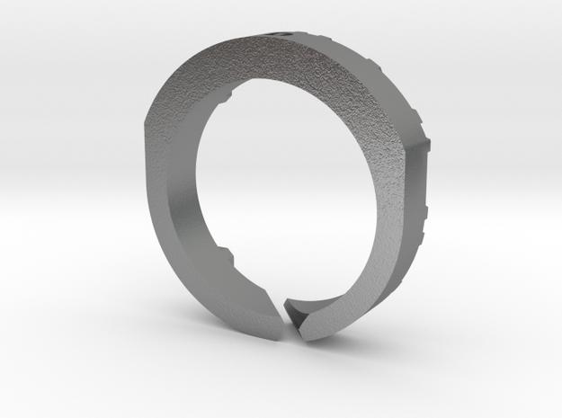 Trinity Ring MA in Raw Silver
