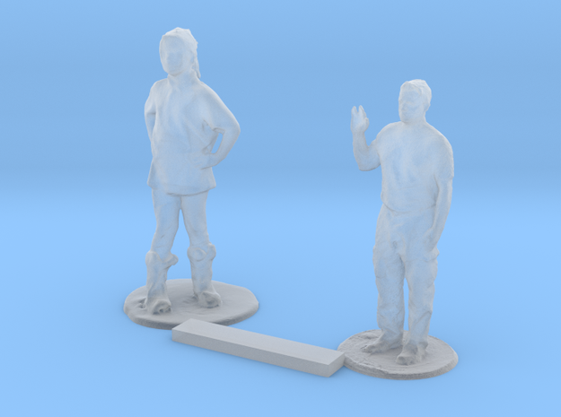 S Scale Standing Kids 8 in Smooth Fine Detail Plastic