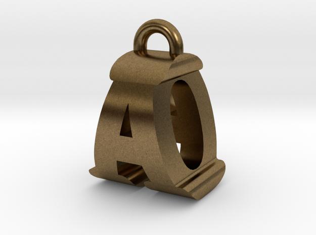 3D-Initial-AO in Natural Bronze