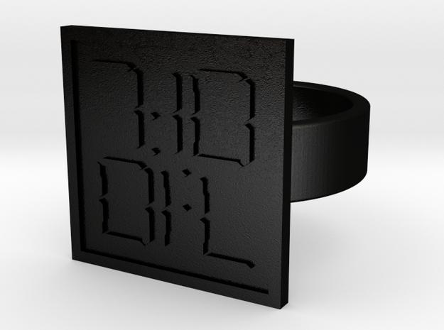 7:10 Ring in Matte Black Steel: 10 / 61.5