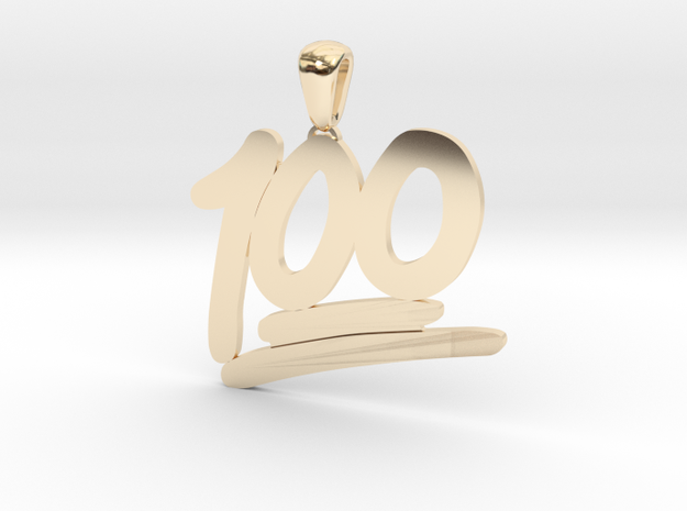 100 Emoji Pendant  in 14k Gold Plated