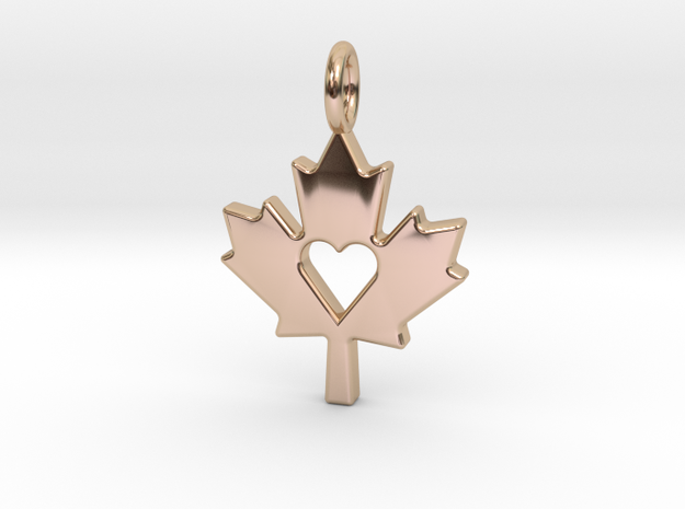 Love The Maple Leaf - Pendant in 14k Rose Gold Plated