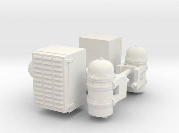 1/14th Farr Air Cleaner w Lubrifiner pair in White Natural Versatile Plastic