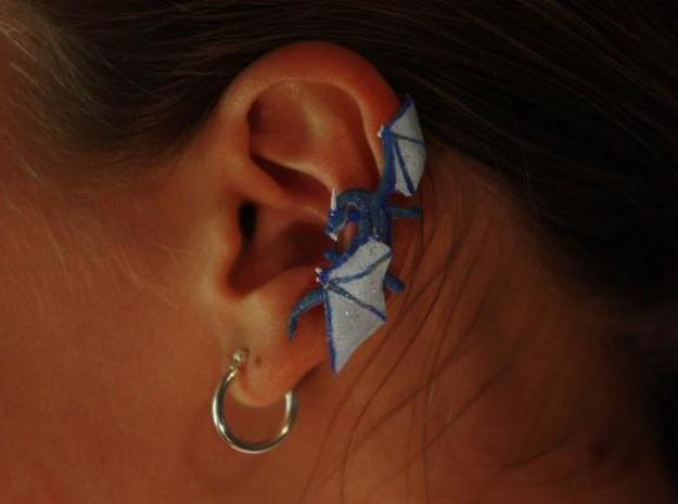 Dragon Cuff Earring Left 3d printed Painted WSF