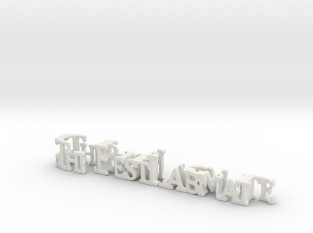 3dWordFlip: .The Best Labmate/Cheryl in White Natural Versatile Plastic