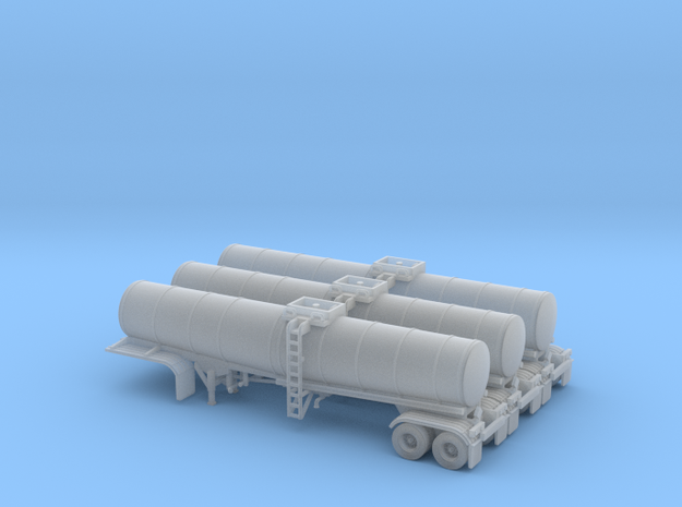 N scale 1/160 Crude oil trailer, Brenner 210 x3 in Frosted Ultra Detail