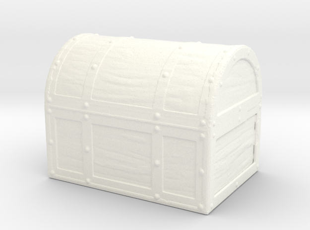 Pirate Smoothie - Chest Only in White Strong & Flexible Polished