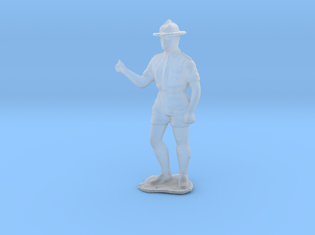 S Scale Boy Scout in Smooth Fine Detail Plastic