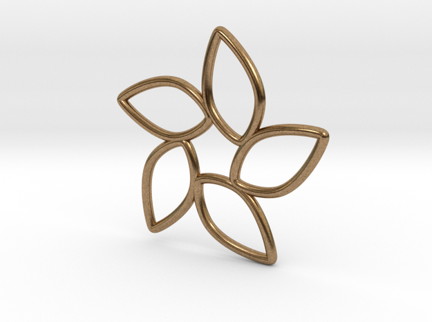 5 Petal Dance in Raw Brass