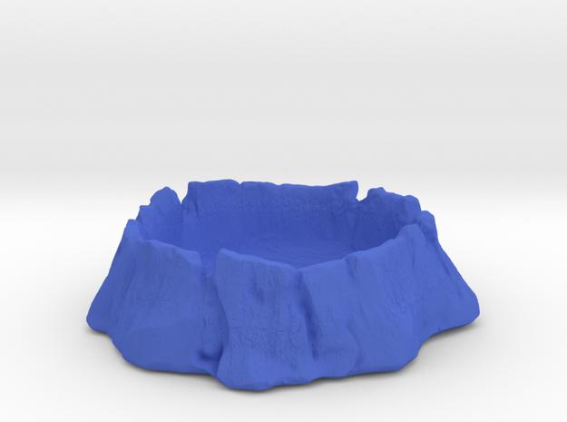 Old tree trunk  in Blue Processed Versatile Plastic