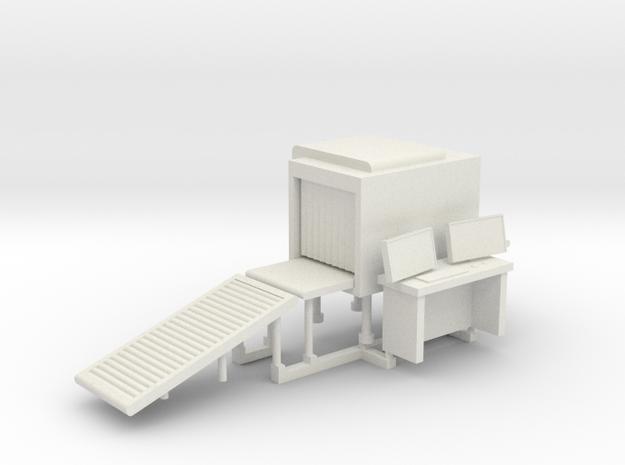 Baggage Xray Scanner HO-Scale in White Natural Versatile Plastic: 1:87 - HO