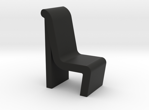 Conference Room Chair (Star Trek Enterprise), 1/30 in Black Natural Versatile Plastic