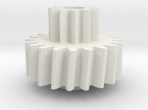 Odometer Gear Firebird 86-92 in White Natural Versatile Plastic