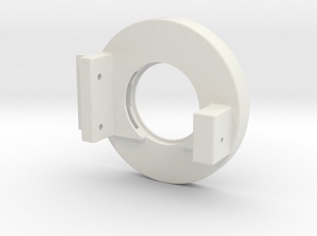 Rampage Encoder Mount Right Back in White Natural Versatile Plastic