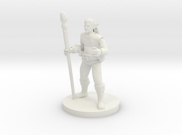 Male Elf Druid in White Strong & Flexible