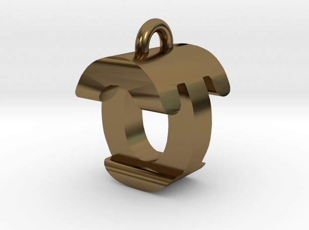 3D-Initial-OT in Polished Bronze