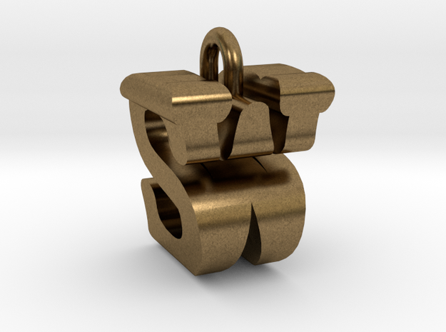 3D-Initial-SW in Raw Bronze