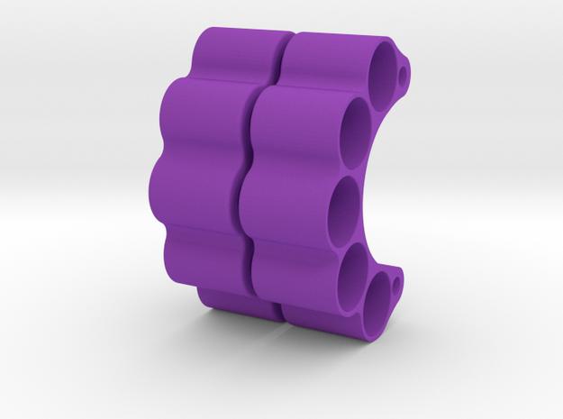 HOOLIGAN SLUG HANGERS (PAIR) TO SUIT DLUX KNUCKLES in Purple Strong & Flexible Polished