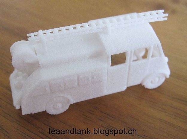 1/144 Renault AHN Fire Truck set of 2 in White Natural Versatile Plastic