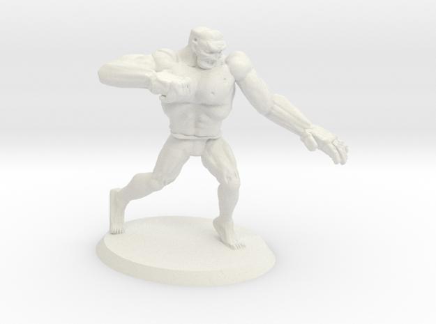 Mutant Rage Zombie in White Natural Versatile Plastic