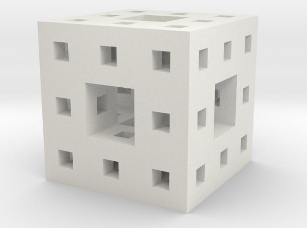 """1"""" menger sponge in White Strong & Flexible"""