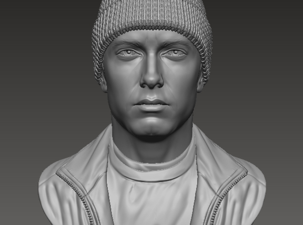 3D Sculpture of Eminem in White Strong & Flexible
