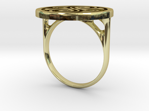 Ring Of Rassilon (US size 6) in 18k Gold Plated