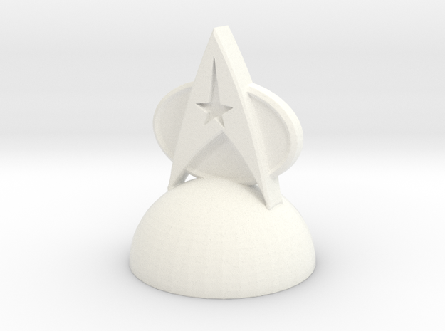 Star Trek Pawn2 in White Processed Versatile Plastic