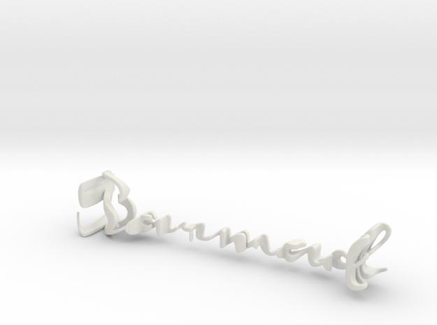 3dWordFlip: Sarmad/Parvaneh in White Natural Versatile Plastic