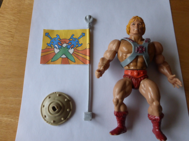 Replacement flag pole for 1980s Castle Grayskull, 3d printed Polished alumide