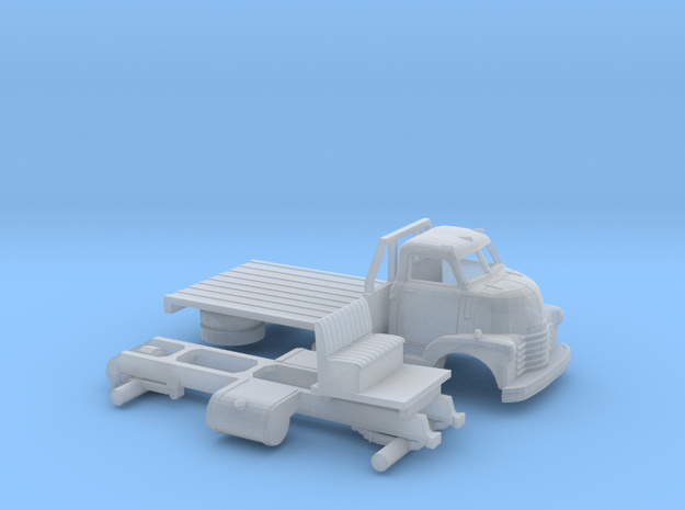 1/160 1949 Chevy COE Flatbed Kit in Smooth Fine Detail Plastic