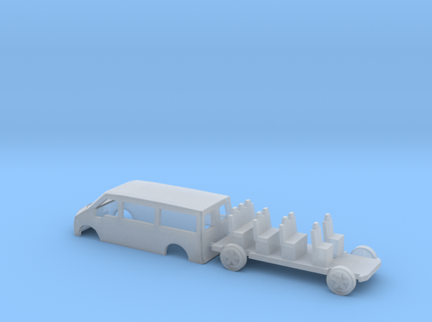 N Gauge Transit Mini Bus in Frosted Ultra Detail