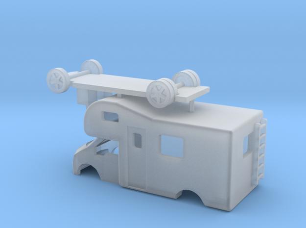 N Gauge Transit Mobile Caravan in Smooth Fine Detail Plastic