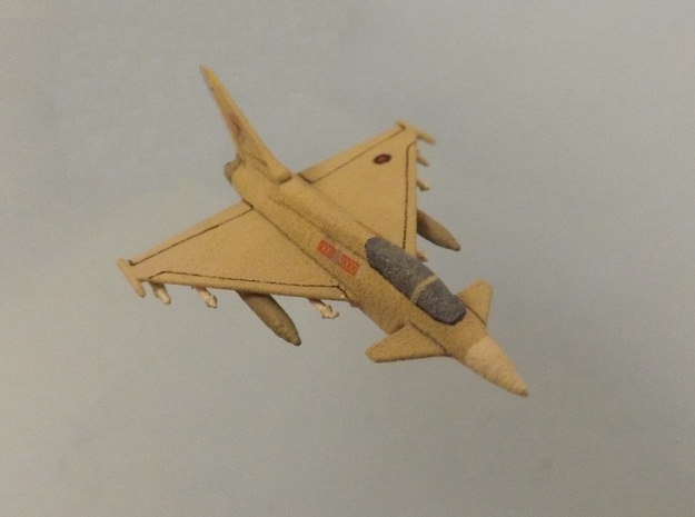 1/285 (6mm) Eurofighter Typhoon w/Ordnance in White Natural Versatile Plastic