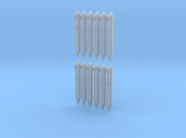 AGM-129 ACM (Twelve Pack) in Smooth Fine Detail Plastic: 1:72