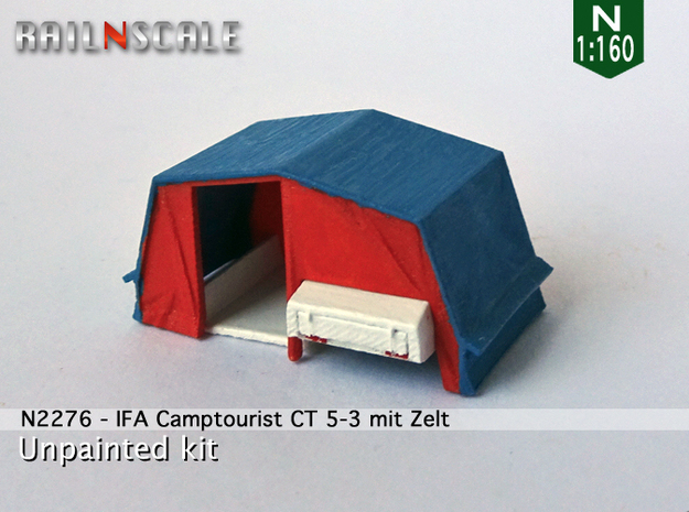 IFA Camptourist CT 5-3 mit Zelt (N 1:160) in Frosted Ultra Detail