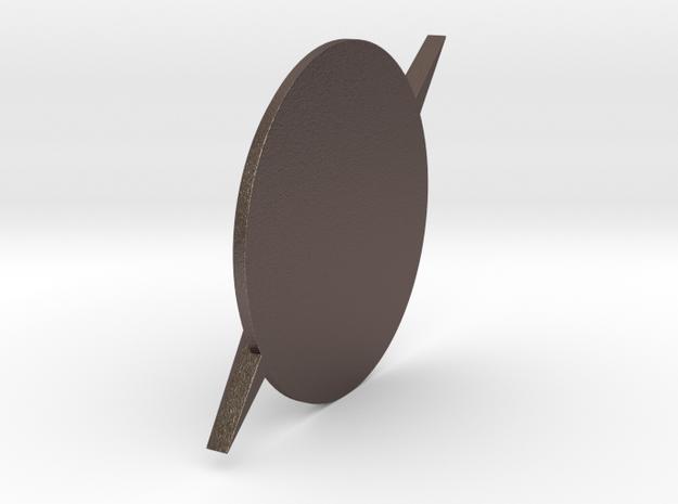 Flash-Custom Size in Polished Bronzed Silver Steel