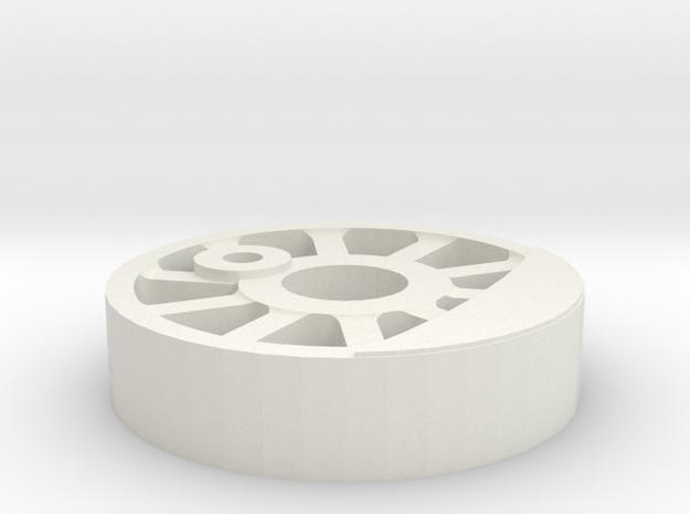 NZ 0-6-0 Peckett Wheel center in White Natural Versatile Plastic