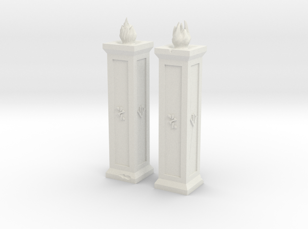 Dwarf Torches XL in White Natural Versatile Plastic