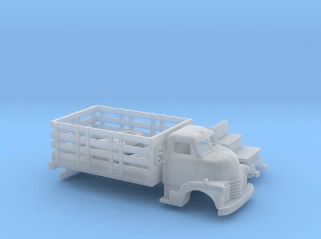 1/87 1949 Chevy COE Stakebed Kit in Smooth Fine Detail Plastic