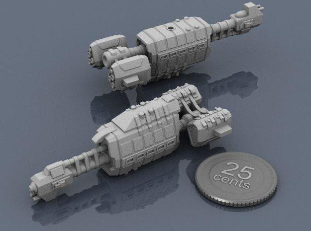 USASF Auxiliary Carrier 3d printed Renders of the model, with a virtual quarter for scale.